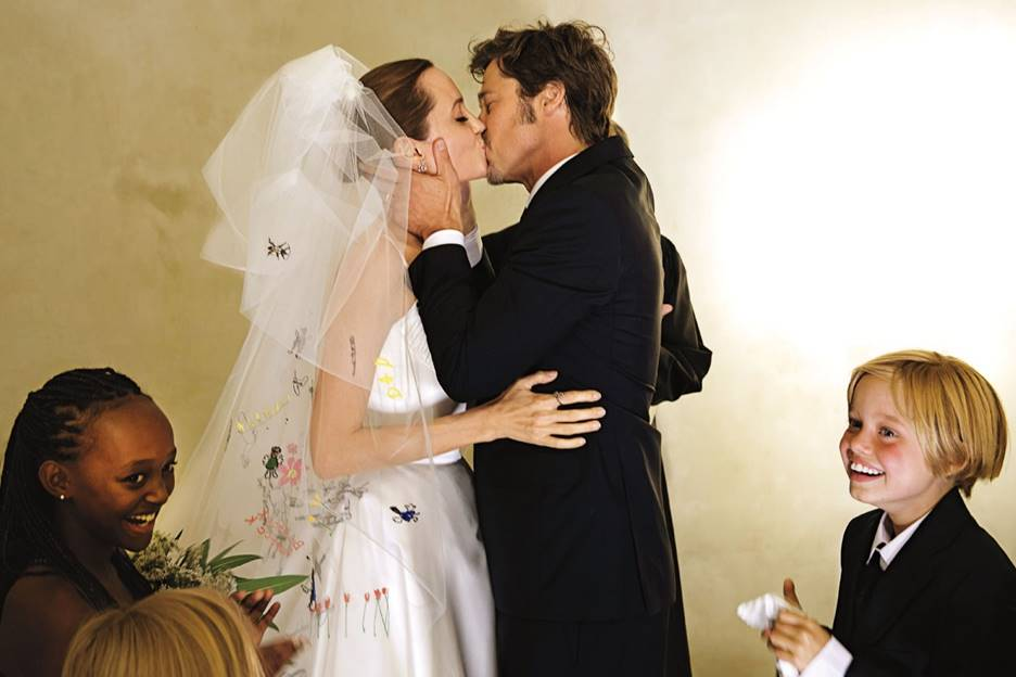 Take a Trip Down Memory Lane with the Iconic Angelina Jolie Wedding ...