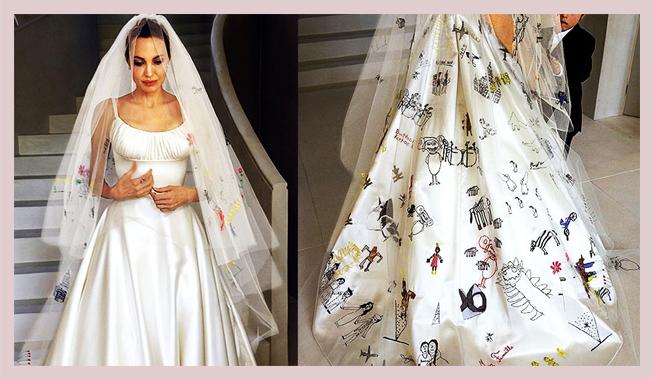Take A Trip Down Memory Lane With The Iconic Angelina Jolie Wedding Dress Wundr Bar